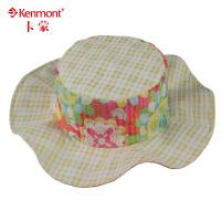 kenmont帽子春夏儿童 可爱遮阳帽 平顶帽0591