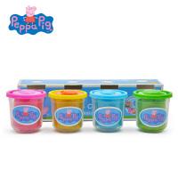 小猪佩奇 粉红猪小妹PeppaPig黏土无毒橡皮泥工具 彩泥套装 4色