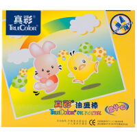 真彩(Truecolor)2006C-24色Q仔油画棒盒装 儿童蜡笔无毒宝宝涂鸦上色笔