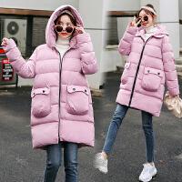 2019冬季新款棉袄外套上衣服孕妇冬装孕后期中长款棉衣