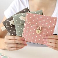 清新波点纸巾包 复古时尚收纳包 零钱包 化妆包