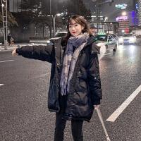 宽松棉袄孕后期冬季外套孕妇冬装中长款韩版大码毛领棉衣