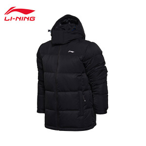 李宁中羽绒服男士运动生活系列保暖冬季80%白鸭绒运动服AYMM185