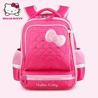 Hello Kitty凯蒂猫 KT1120玫红女小学生护脊减负书包彩盒装 当当自营