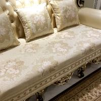 欧式沙发垫四季防滑布艺真皮沙发坐垫通用客厅套罩巾定制 普罗旺斯-米