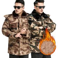 军大衣男冬季加厚特种兵中长款作训冷库防寒城市荒漠迷彩大衣