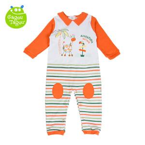 【加拿大童装】GagouTagou婴儿秋装 纯棉宝宝哈衣0-6个月新生儿连体衣春秋爬爬服