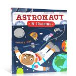 英文原版绘本 Astronaut in Training 宇航员的训练 英语启蒙 训练成为太空人科普活动游戏书 6-9