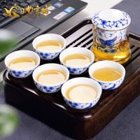 蝶舞轻韵旅行皮包茶具 花茶花草茶具套装 耐热玻璃红茶具