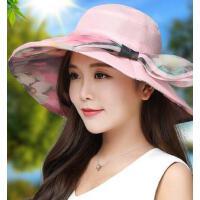 可折叠太阳帽防紫外线海边度假凉帽大沿沙滩帽 帽子女 遮阳帽 支持礼品卡