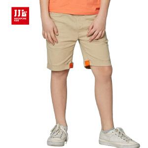 jjlkids季季乐童装男童舒适透气休闲夏季七分布裤中大童薄款