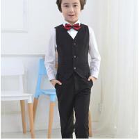 优雅时尚儿童西装套装男童西服中大童韩版百搭小礼服男孩花童马甲演出套装