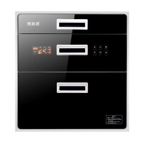 消毒柜 家用 大容量消毒碗柜橱柜嵌入式消毒柜镶嵌式高温消毒碗柜 黑色