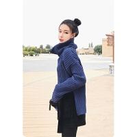 2017韩版秋冬小香风高领毛衣两件套毛衣针织套装女学生时尚潮 图片色 XL