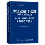 小企业会计准则案例详解与实务 条文解读 科目使用 账务处理 2020年版