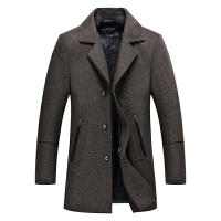 男毛呢大衣秋冬新款时尚商务修身青年中长款羊毛呢子风衣外套韩版