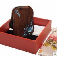 谭木匠 礼盒漆艺镜-青颜 木镜 化妆镜 随身镜子 生日礼物 送女友