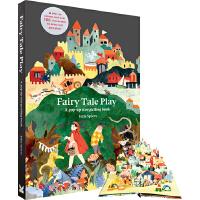 【全店�M300�p100】英文原版Fairy Tale Play: A pop-up storytelling book童