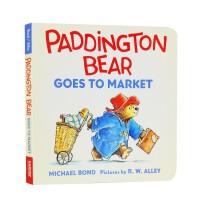 进口英文原版 Paddington Bear Goes To Market 帕丁顿熊去市场 纸板书