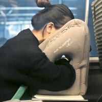 长途飞机旅行充气枕u形护颈枕车用睡觉神器趴睡枕办公室午休靠枕