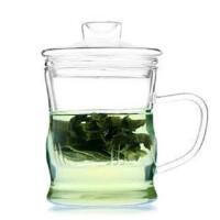 楼龙 耐热玻璃杯 创意三件式泡茶杯 过滤带盖套装茶具 水杯子 茶壶 CF-107    1405