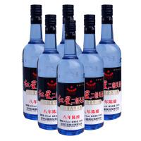【酒界网】红星 43度 红星八年陈酿蓝瓶 750ml * 6瓶 白酒