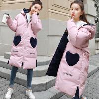 秋冬季韩版宽松中长款棉袄孕妇冬装棉衣外套