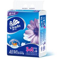 维达 纸巾 抽纸 超韧3层抽取式纸面巾120抽*4包(大规格)
