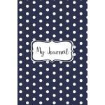 预订 My Journal: A navy blue polka dot designed notebook cove