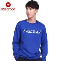 【开学季】Marmot/土拨鼠运动休闲男女情侣款卫衣时尚舒适保暖圆领卫衣