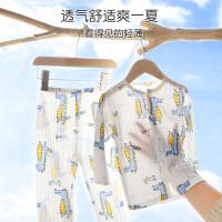 儿童睡衣男童女童纯棉薄款家居服中大童宝宝短袖空调服小男孩夏季