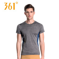 361度男装健身服夏季透气健身衣圆领短袖T恤上衣