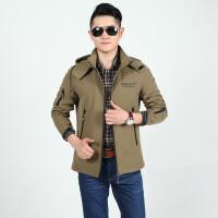 2015秋冬新款战地吉普AFS JEEP 正品夹克外套 可脱卸帽男士速干冲锋衣 茄克衫男装
