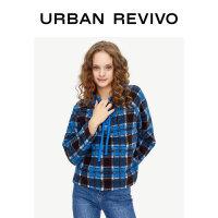 UR秋冬季青春女装时尚系带帽领夹克YL47S1EE2000