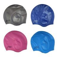 游泳装备 游泳帽 金格尔泳帽 防水大耳朵胶帽
