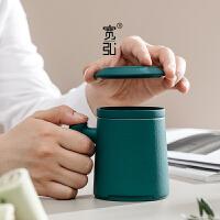 茶杯茶水分�x杯陶瓷�k公室�^�V泡茶杯大容量���w杯子