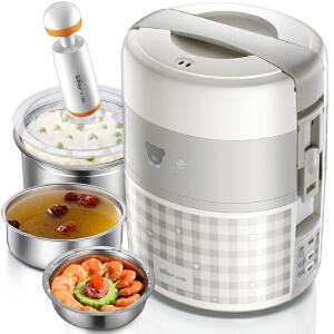 小熊(Bear)电热饭盒 双层电饭盒 加热饭盒可插电加热保温饭盒 DFH-A20D1