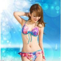 温泉小胸聚拢带钢托比基尼三两件套女分体游泳衣 支持礼品卡