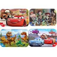 【当当自营】迪士尼拼图玩具 60片铁盒木质拼图四合一(赛车2263+赛车2393+玩具总动员2267+恐龙当家2394
