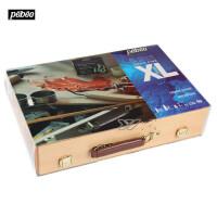 法国Pebeo贝碧欧XL油画工具木盒套装12色可手提*920662C