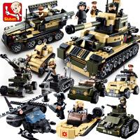 兼容乐高男孩小鲁班拼装积木军事战狼特种部队益智玩具6-8-10岁